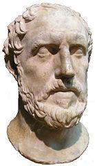 Historiador Grego Tucídides. Busto do Royal Ontario Museum