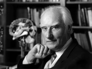 Francis Harry Compton Crick em seu escritório. Foto: Marc Lieberman