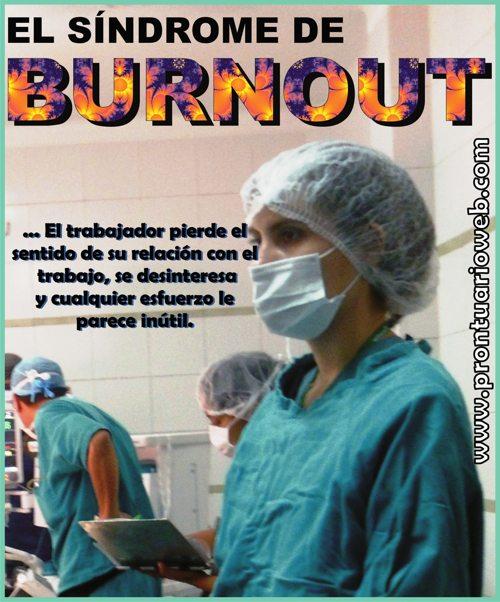 burnout la relación con el trabajo - prontuarioweb